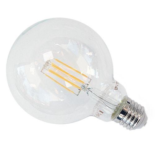 E27 LED-Globe 6W Filament G95, warmweiß