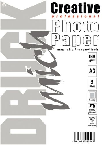 A3 magnetisches Papier, photo-glänzend, 5 Blatt
