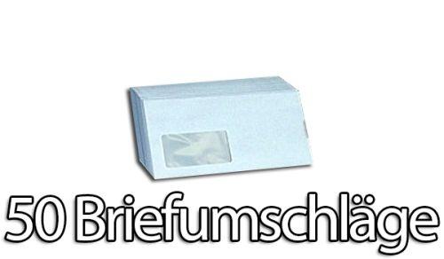 50 Stück Briefumschläge Premium, DIN lang mit Fenster