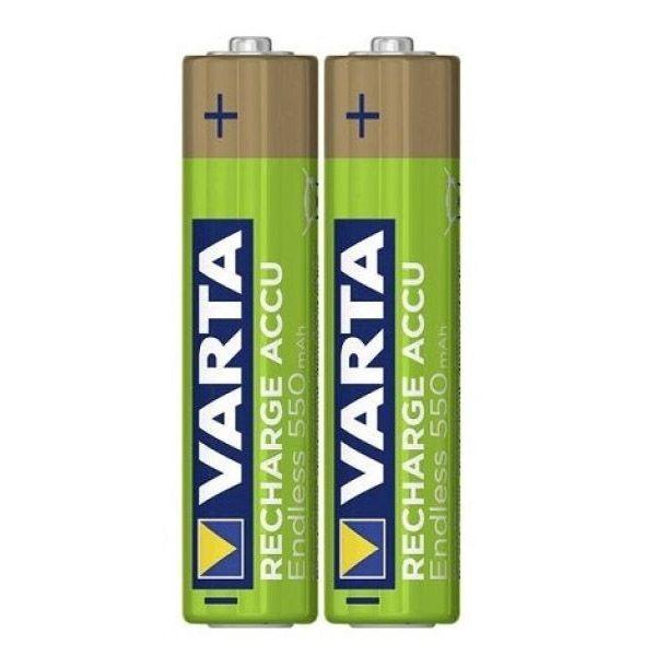 2 Stück AAA-Akkus, 550mAH Varta, endless-recharge