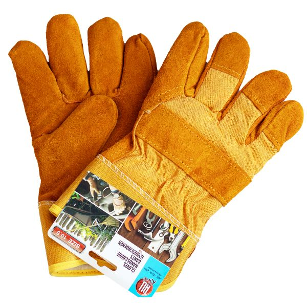 1 Paar Arbeits- und Schutz-Handschuhe, gelb