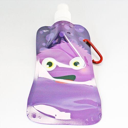 Faltbare Trinkflasche 0,5 L - lila