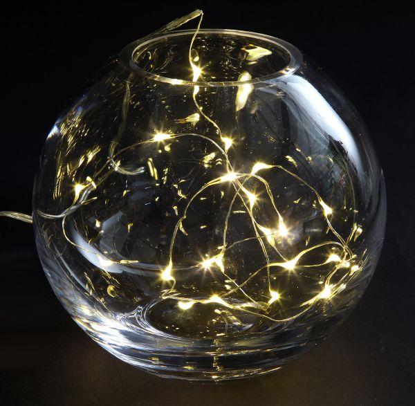 """LED Lichterkette """"Kupferdraht"""", 100 LED, 10,2m"""