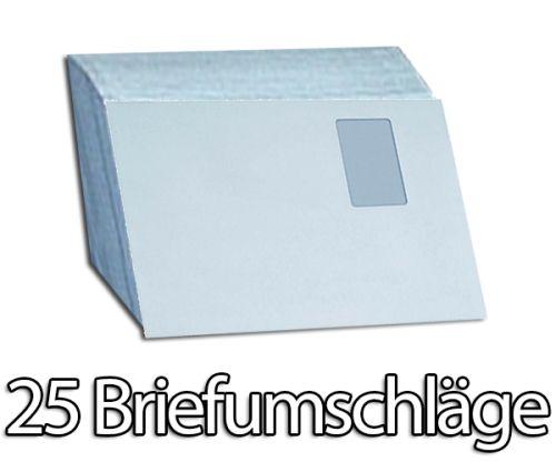 25 Stück Briefumschläge Premium, C4 mit Fenster