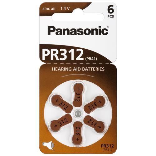 Hörgerätebatterie Panasonic 6 Stück V 312