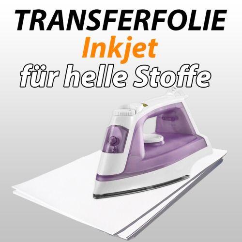 Inkjet-Transferfolie f. helle Textilien, 10 Blatt