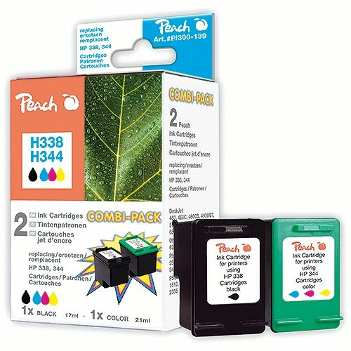 Peach CombiPack PI300-139, kompatibel zu HP 338 / HP 344