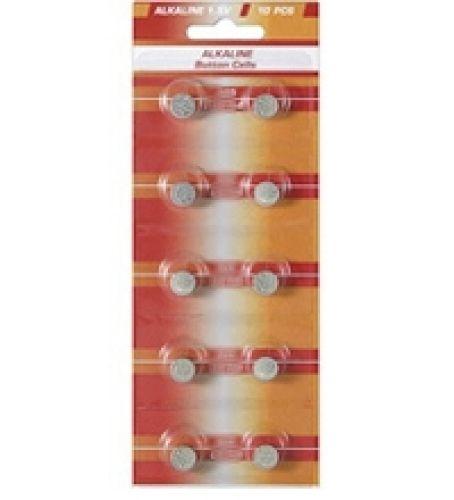 10 Knopfzellen AG2 Alkali-Mangan
