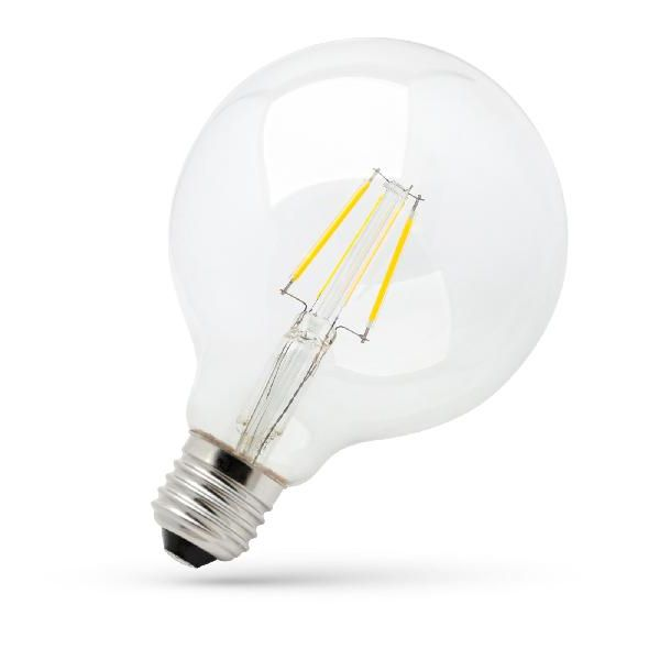 E27 LED-Globe 8W Filament G125, warmweiß