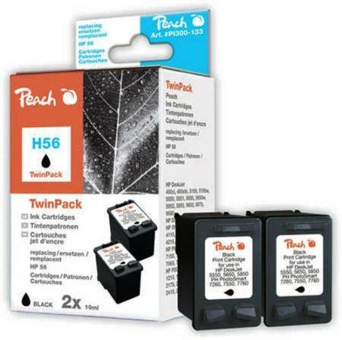 Druckerpatronen schwarz, ersetzen HP Nr. 56/C6656A, Peach