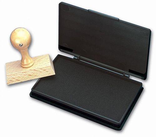 Stempelkissen, 11 x 7 cm, schwarz
