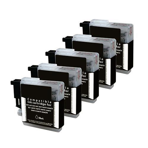 5 Schwarze Patronen, Alternativ zu LC-980BK/LC-1100BK