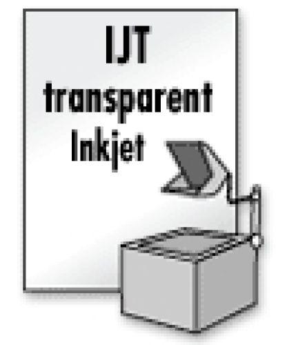 Overheadfolie f. Inkjet-Drucker, 10 Blatt