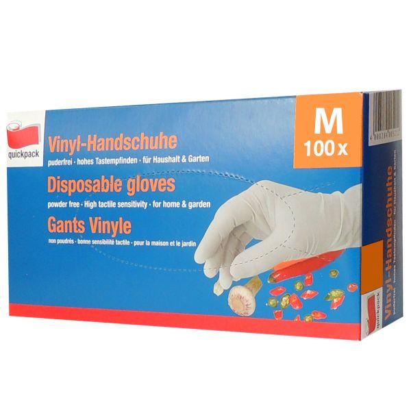 100 St. Vinyl-Handschuhe Einmalhandschuhe Größe M