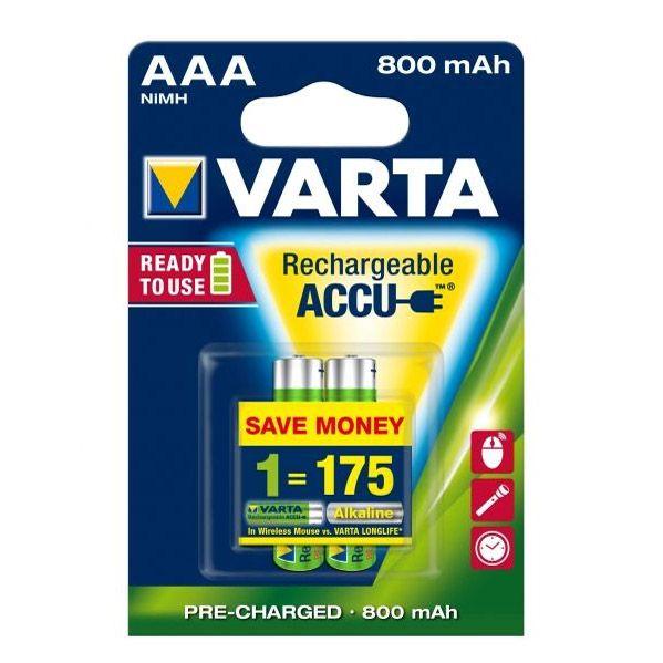 2 Stück AAA-Akkus, 800mAH Varta, ready to use