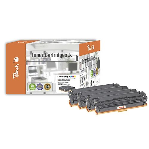 Peach MultiPack PT290, kompatibel zu HP CC530 / 531 / 532 / 533