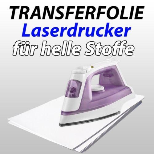 Laser-Transferfolie f. helle Textilien, 10 Blatt