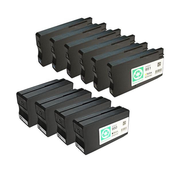 * 10 kompatible Patronen alternativ zu HP Typ 950XL, 951XL