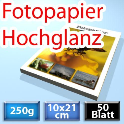 250g Foto-Karten 10*21cm, Glossy, 50 Blatt