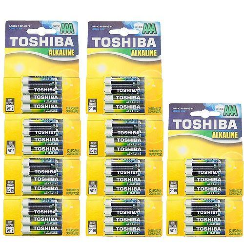 40 Micro-Batterien, Toshiba Alkaline