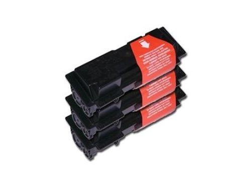 Toner-Set: 3 x schwarz, alternativ zu Kyocera TK-100
