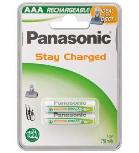2 Stück AAA-Akkus, 750mAH Panasonic, DECT Akku