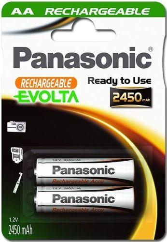 2 Stück AA-Akkus, 2450mAh Panasonic EVOLTA ready-to-use