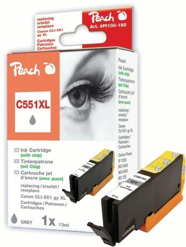 Peach Druckerpatrone PI100-180, kompatibel zu Canon CLI-551XLgy