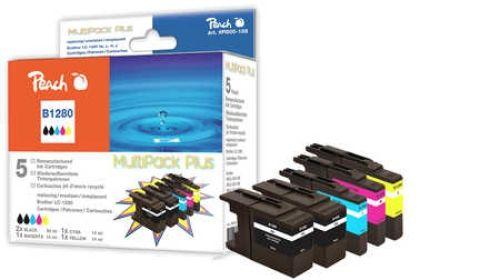 Druckpatrone Peach Combi-Pack Plus für Brother Typ LC1280