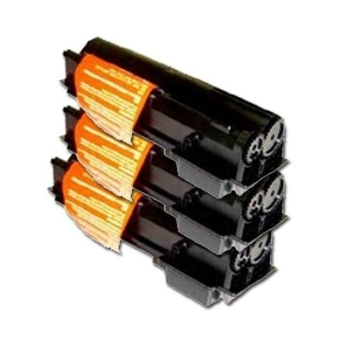 Toner-Set: 3 x schwarz, alternativ zu Kyocera TK-17