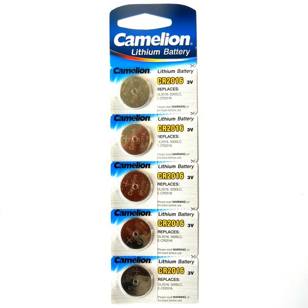 5er Pack Camelion Knopfzelle Lithium CR-2016